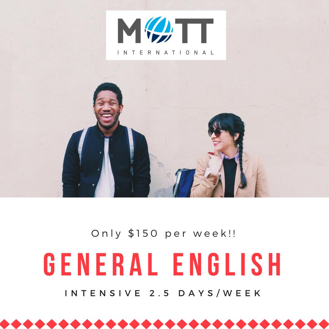 General English Promo Mott International Students